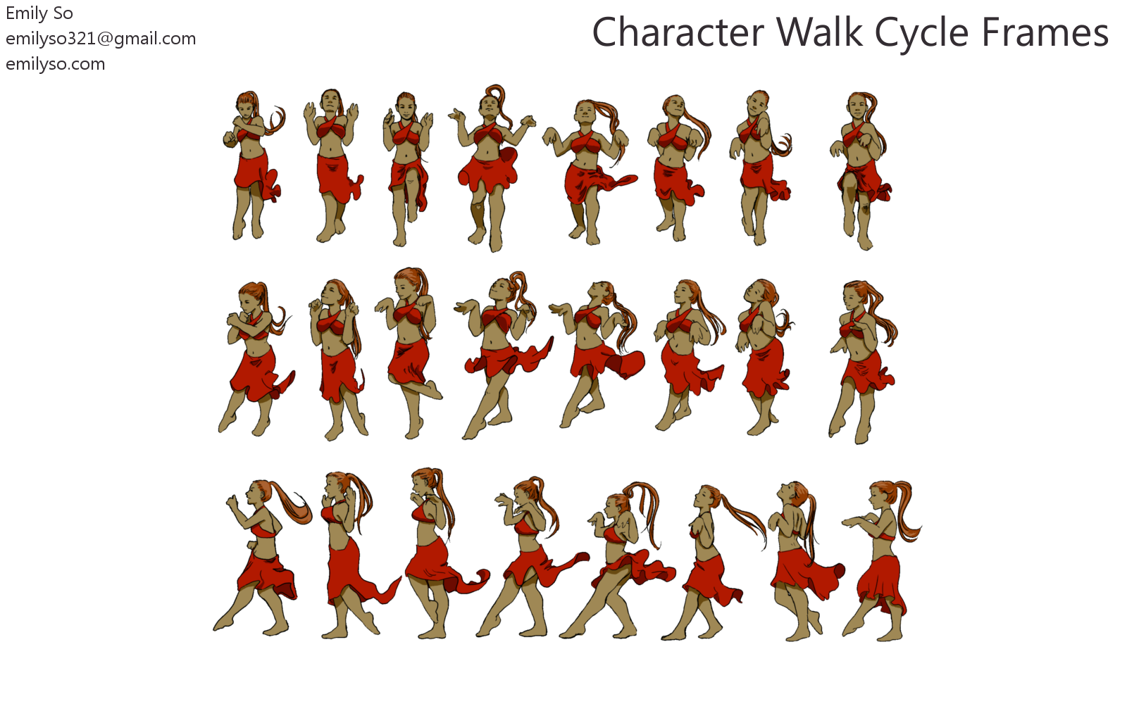 Dancer animation frames | Emily So