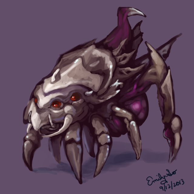 made-up zerg unit