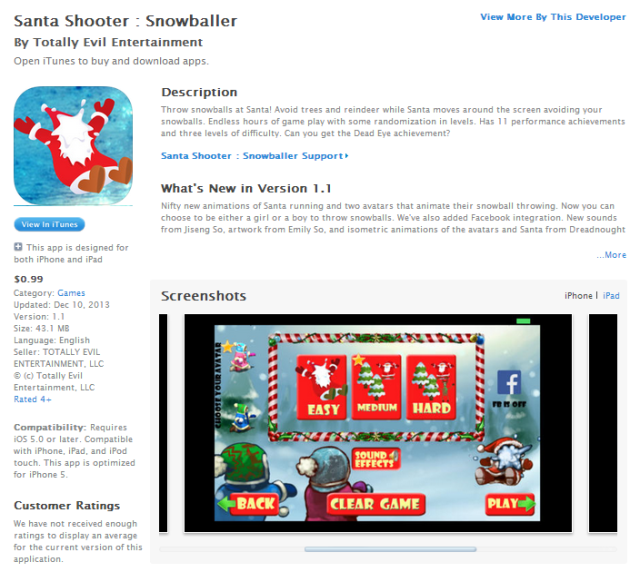 itunes_santa_screenshot